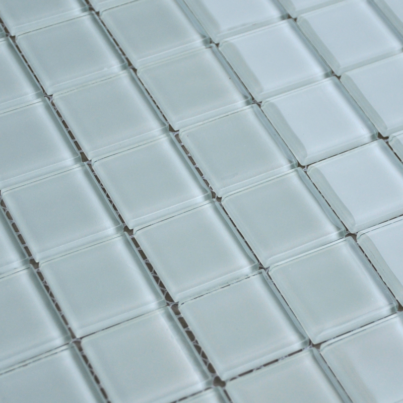 Crystal Glass Mosaic Sheet Tile Wall Kitchen Backsplash Tile White Floor Stickers Design Bathroom Shower Pool