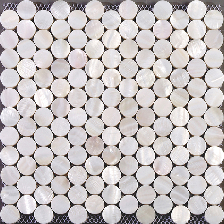 Penny Round Backsplash: Seashell Tiles Mother Of Pearl Tile Backsplash For Kitchen