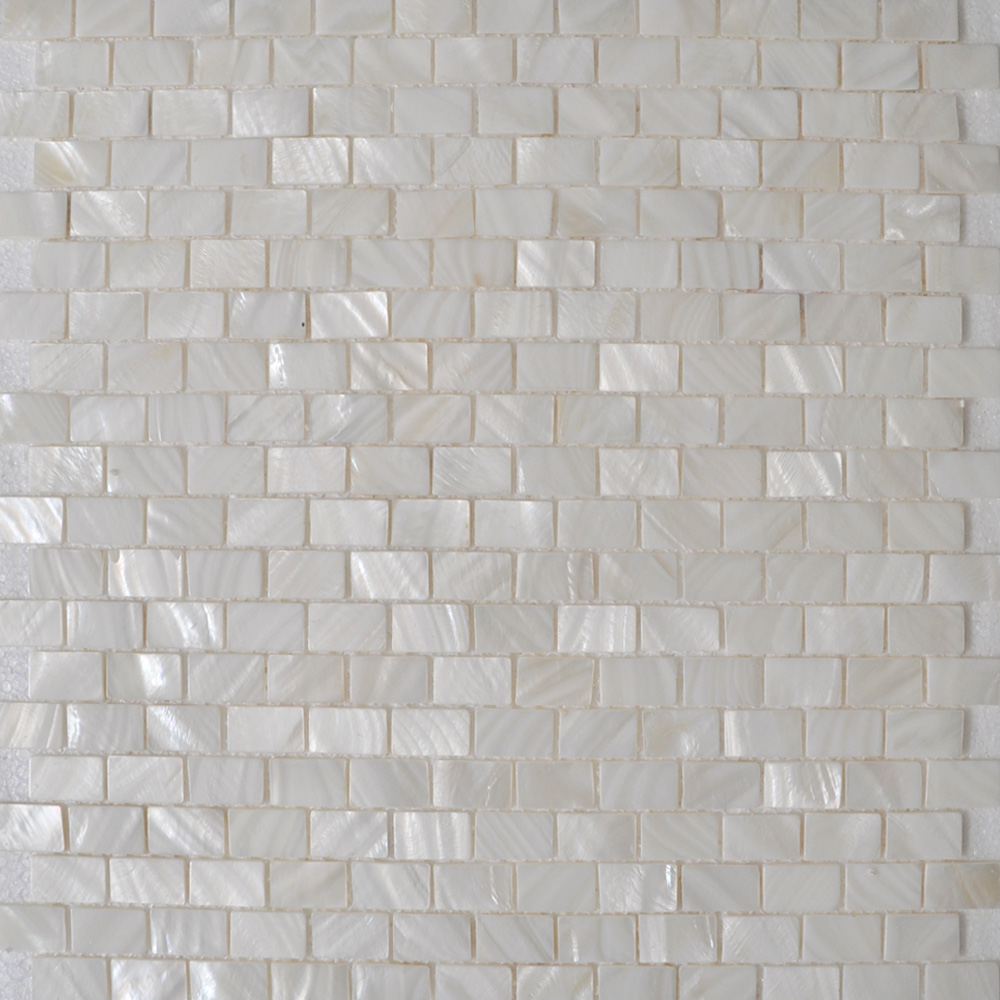 Mother Of Pearl Shell Sheet White Seashell Mosaic Subway Tile Mesh Bathroom  Liner Wall Tiles