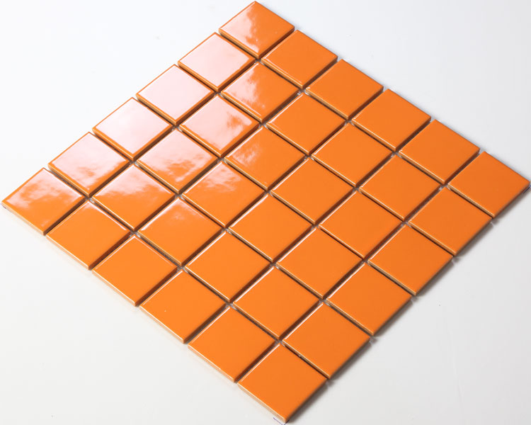 cheap mosaic bathroom tiles ceramic porcelain mosaic tile brick orange bathroom tile 17715