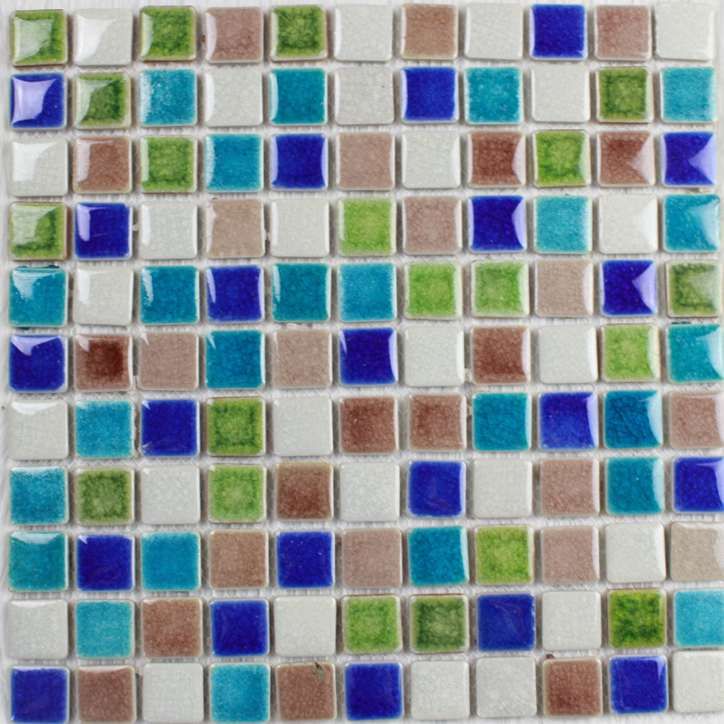 Porcelain Tile Glazed Mosaic Wall Stickers Kitchen Backsplash Tiles Ut 555 Iridescent Ceramic For Bathroom