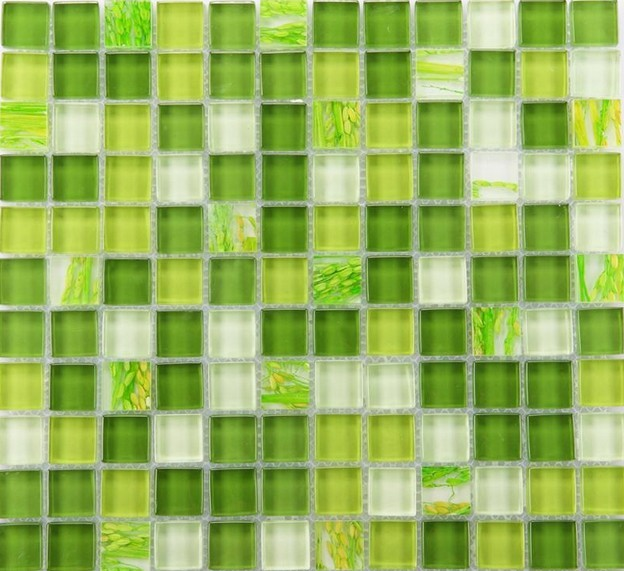 Gl Mosaic Tile Backsplash Wall Tiles Yf Mtlp22 Green Crystal Kitchen Backsplashes Mosaics For Bathroom
